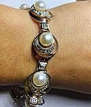 Браслет в сріблі з білим золотом і перлами Люція, фото 3
