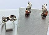 Срібний набір з золотом і білим цирконом Естер, фото 2