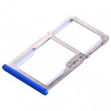 Держатель Sim-карты и карты памяти Meizu M6 Note M721H синий