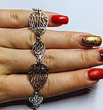 Срібний браслет у вигляді листочків Блюз, фото 3