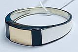 Печатка в сріблі з золотом і оніксом Конор, фото 2