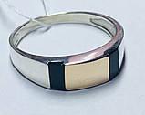 Печатка в сріблі з золотом і оніксом Конор, фото 4