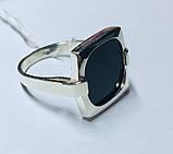 Квадратное кольцо с ониксом в серебре Николь, фото 2