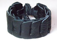 Браслет кожаный плетеный, черный 8_10_120a36