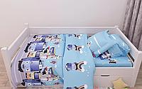 Комплект постельного белья полуторный Автобусы, ранфорс 100% хлопок. Постільна білизна. (арт.13421)