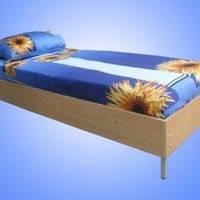 Металлическая кровать   обшитая ДСП