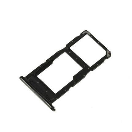 Держатель Sim-карты и карты памяти Huawei Honor 10 Lite HRY-LX1, P Smart 2019 (POT-LX1) черный, фото 2
