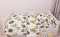 Комплект постельного белья полуторный, ранфорс 100% хлопок. Постільна білизна. (арт.13422)