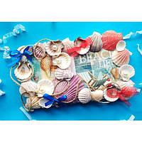 Декоративное настенное панно картина в технике декупаж в морском стиле. Ручная работа из эко материалов.