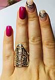 Треугольное серебряное кольцо Сафари, фото 4