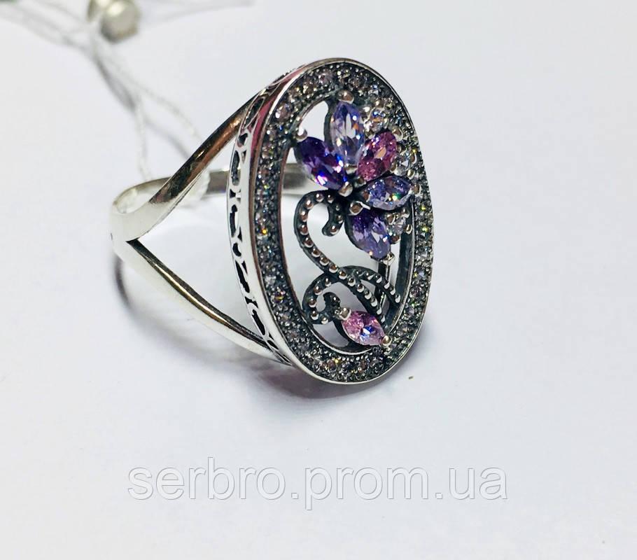 Круглое кольцо с цветочным узором Флоренция