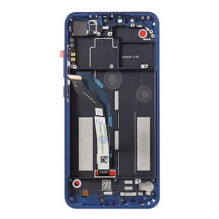 Дисплей Xiaomi Mi8 Lite (Mi 8 Lite), Mi8X з сенсором (тачскрін) чорний з рамкою синього кольору, фото 2