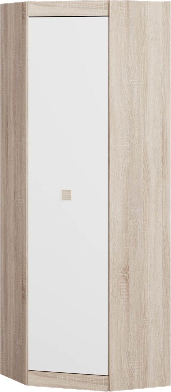 Шкаф угловой 700 Соната ЭВЕРЕСТ Дуб сонома + Белый (70х70х205.5 см)