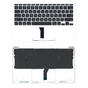 Клавиатура для ноутбука Apple MacBook Air 2013 A1465 с топ панелью горизонтальный энтер черный