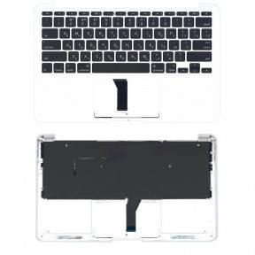 Клавиатура для ноутбука Apple MacBook Air 2013 A1465 с топ панелью горизонтальный энтер черный, фото 2