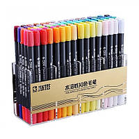 Набор двухсторонних акварельных маркеров STA 80 цветов (В131520)