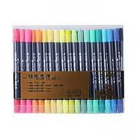 Набор двухсторонних акварельных маркеров STA 36 цветов (В130220)