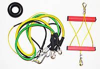 Эспандер металлический универсальный FULL POWER Металлическая конструкция + 2 подарка (КВ-Ч)