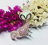 Срібна брошка з опалом і рожевим цирконом Леді Кет, фото 2