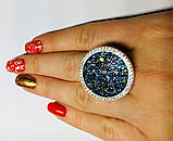 Кольцо в серебре с камнями Swarovski Марисабель, фото 4