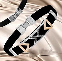 Каучуковый браслет серебро с золотом Альба