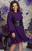 Платье женское демисезонное нарядное шифоновое 48-58 размеров