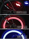 """Силиконовая """"S""""-образная одноцветная диодная мигалка / моргалка на колесо / спицу (5 РАСЦВЕТОК), фото 3"""