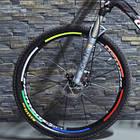Велосипедные светоотражающие наклейки на обода колес, фото 3