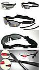 Спортивные очки Oakley 089 POLARIZED с поляризацией и UV400 (5 сменных линз), фото 6