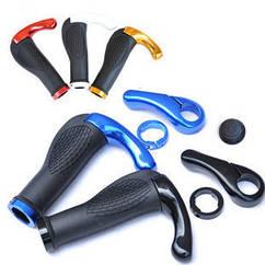 """Ергономічні велосипедні гріпси з алюмінієвими ріжками """"фікс"""" (4 кольори)"""