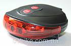 Подседельная диодная мигалка / задний фонарь с лазерной площадкой, фото 2