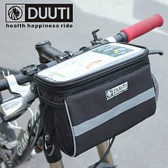 Велосумка на руль / нарульная Duuti BB-110 с отделением для телефона / навигатора / планшета ( ≤ 18 * 11 см)