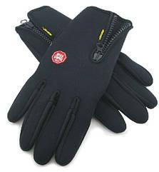 """Спортивные / вело перчатки зимние флисово-неопреновые FLL """"Windstopper"""" для сенсорных экранов"""