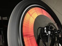 Отражатели на спицы велосипеда (светоотражающие трубки / полоски / палочки) (6 цветов) ОРАНЖЕВЫЙ
