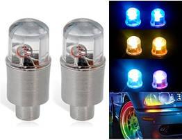 Многоцветная сенсорная диодная / LED насадка / мигалка / подсветка / колпачок на нипель колеса