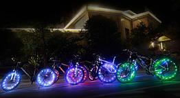 Диодная иллюминация колеса / спиц велосипеда на 20 диодов