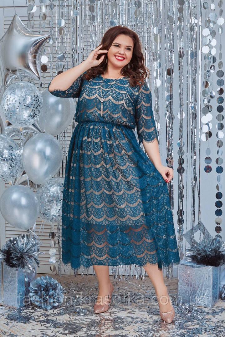 Женское нарядное вечернее платье,размеры:48-50,52-54,56-58.