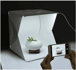 Лайтбокс 40*40*40 см + 4 фона. Мини фото студия с Led-подсветкой. Фотобокс