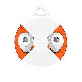 Bluetooth наушники Lito BE40, белые с оранжевым