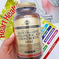 Solgar, Глюкозамин, гиалуроновая кислота, хондроитин и МСМ, 120 таблеток
