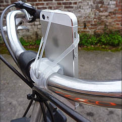 """Держатель / кріплення силіконове універсальне для телефону / смартфона на вело-кермо (≤ 6,2"""") (4 КОЛЬОРИ)"""