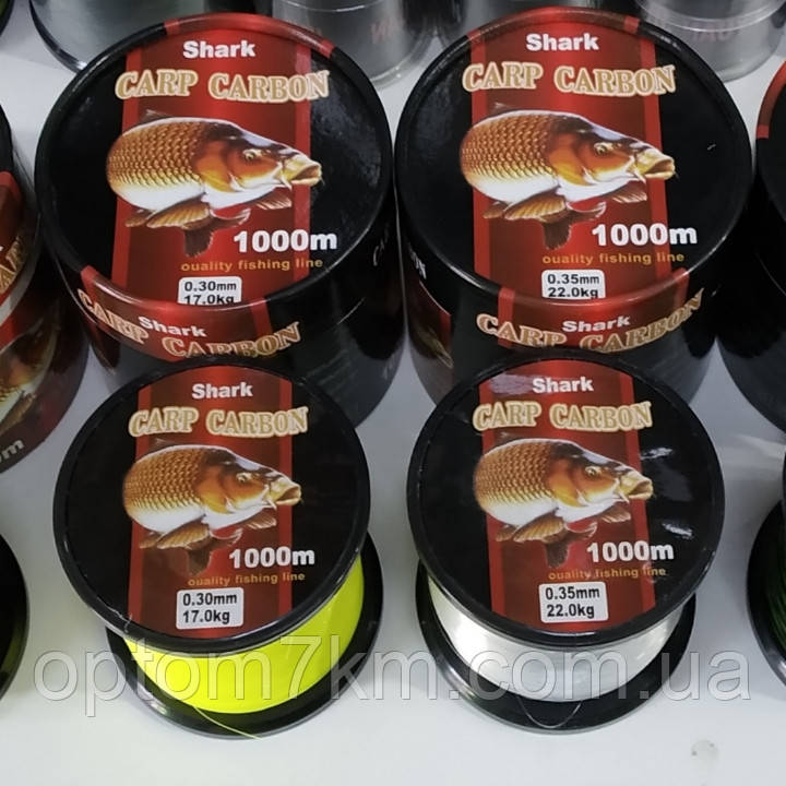 Леска Shark Carp Carbon 1000м 0,30-0,40