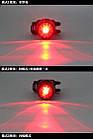 """Универсальная веломигалка / габарит с алюминиевым корпусом """"гибрид"""" с КРАСНЫМ диодом (зарядка от USB), фото 8"""