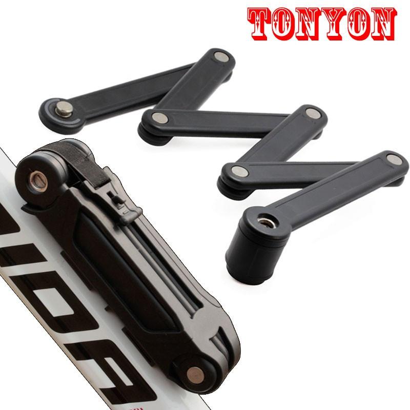 Велозамок противоугонный секционный ленточный TONYON TY3853-B под ключ (шесть секций)
