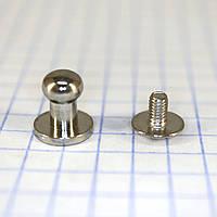 Винт кнопка кобурная 9 мм никель a6260 t5079 (30 шт.)