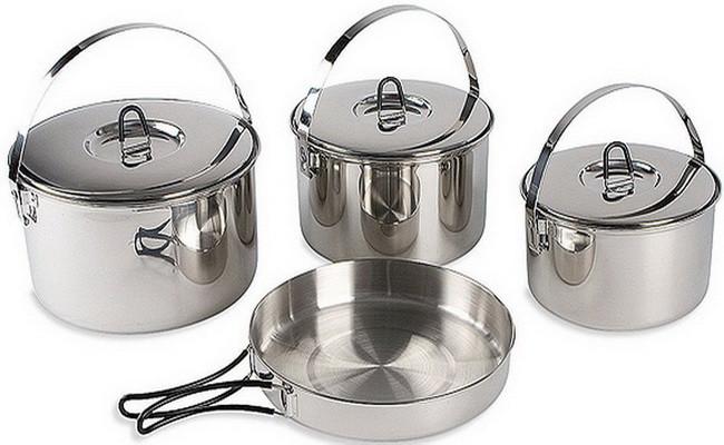 Набір посуду Tatonka Family Cook Set L (три каструлі, сковорода) 4024.000