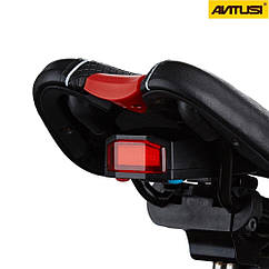 """Вело-сигналізація / габарит / сигнал ТМ """"ANTUSI"""" Cicada A6 3-в-1 (COB-діоди, USB, б/п пульт Д/У, 110 Дб)"""