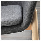 Кресло c высокой спинкой IKEA VEDBO Gunnared темно-серое 104.241.31, фото 6