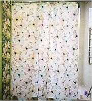 Шторка для ванной с кольцами Miranda HAVANA бежевая (Турция) 180х200 см