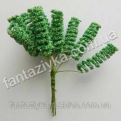 Спиральки на проволоке зеленые, в пучке 12 штук